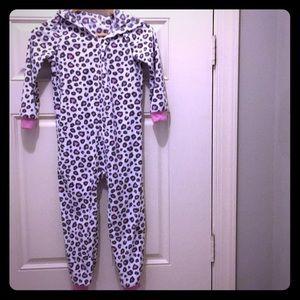 Cheetah one piece pajamas